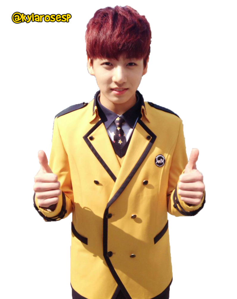 Transparent jungkook uniform. Uniforms png render by