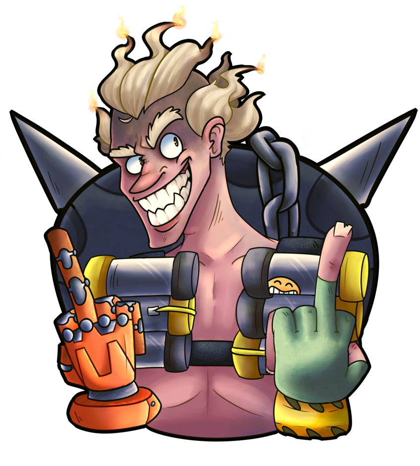 Transparent junkrat firecracker. By maskarie on deviantart
