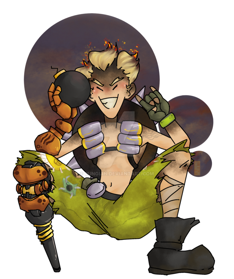Transparent junkrat firecracker. Smol by rungian on