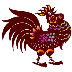 Transparent junkrat year rooster. Vietnamese of the legend