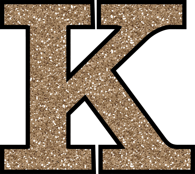 Transparent k printable. Glitter without the glue