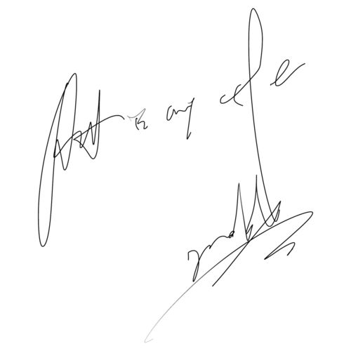 Transparent signatures mark