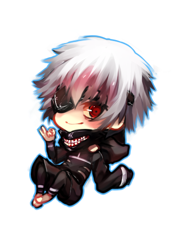 Transparent kaneki chibi. Ask hide