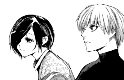 Transparent kaneki tumblr. Touka kirishima and ken