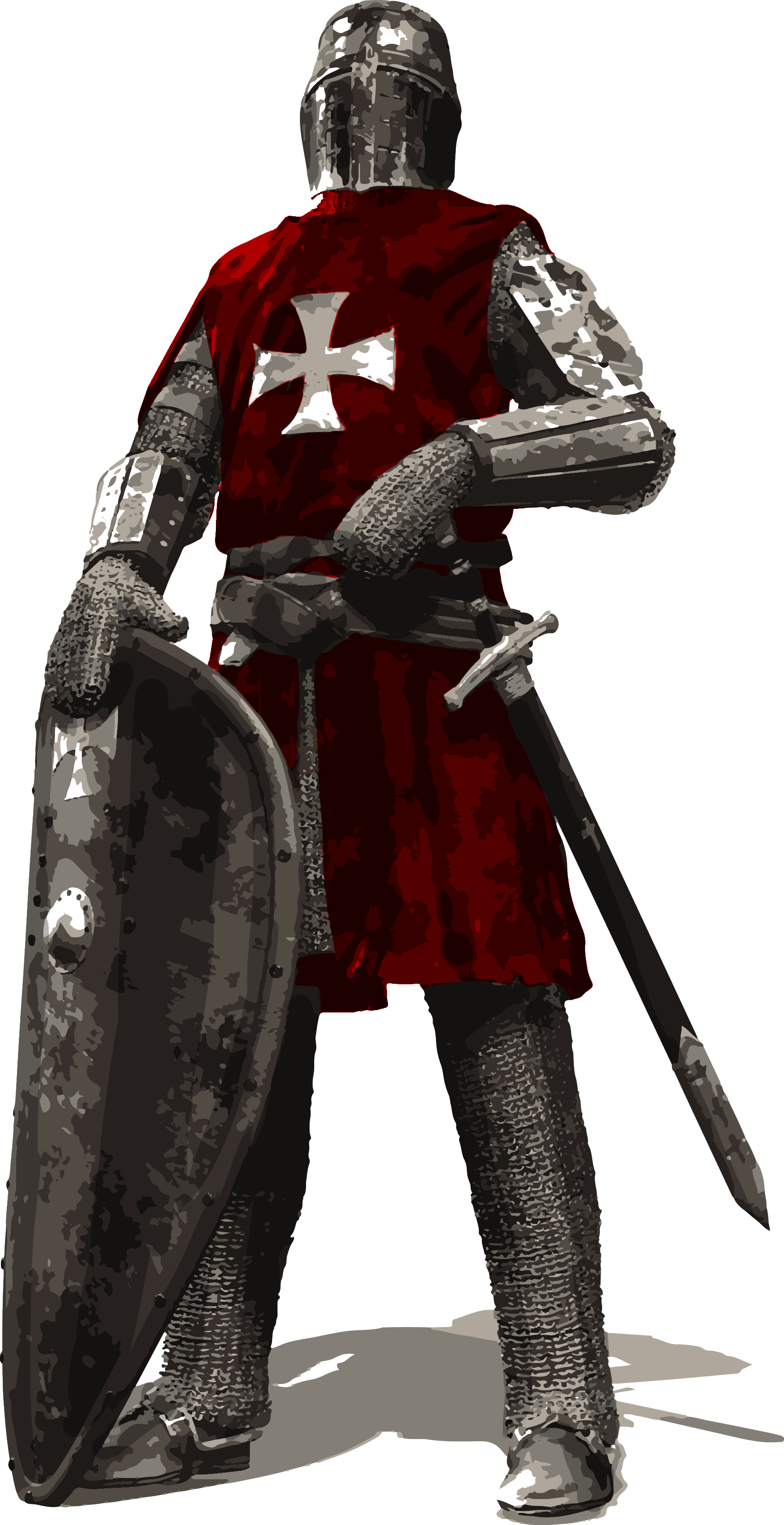 Transparent knight background. Check all