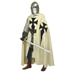 Transparent knight crusader. Clothing surcoats capes and