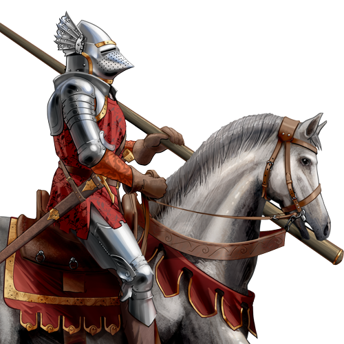 Transparent knight hundred years war. Mounted knightsarmored lancer