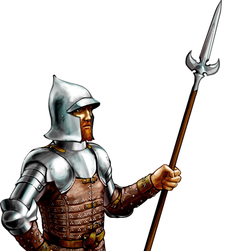 Transparent knight hundred years war. Picture