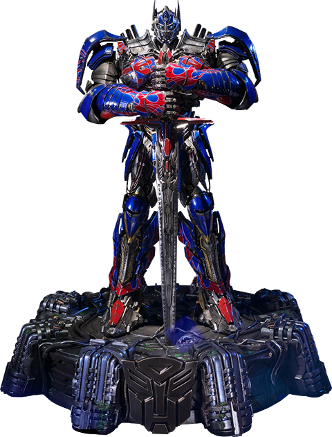 Transparent knight optimus prime. Transformers edition polystone statue