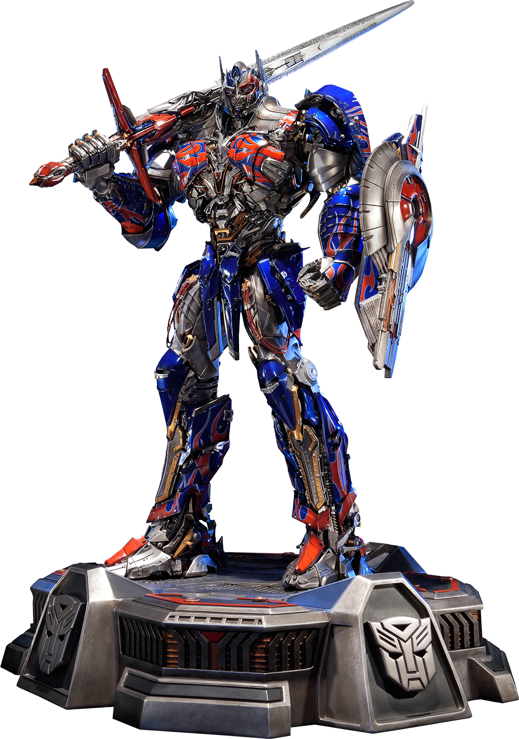 Transparent knight optimus prime. Transformers the last statue