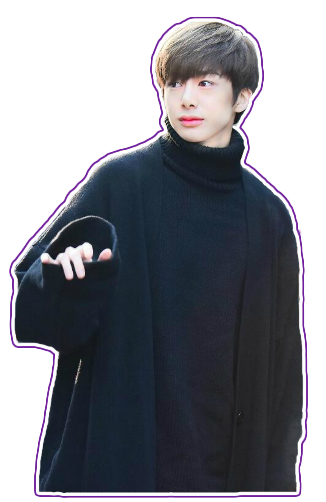 Transparents hyungwon. Transparent kpop banner free stock