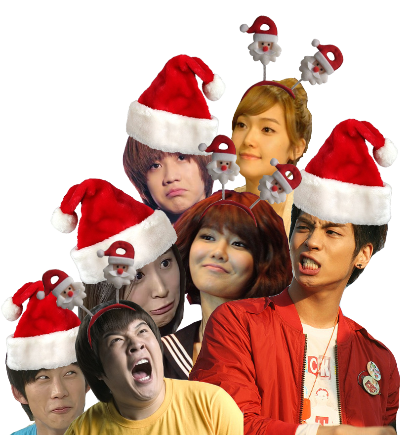 Transparent kpop christmas