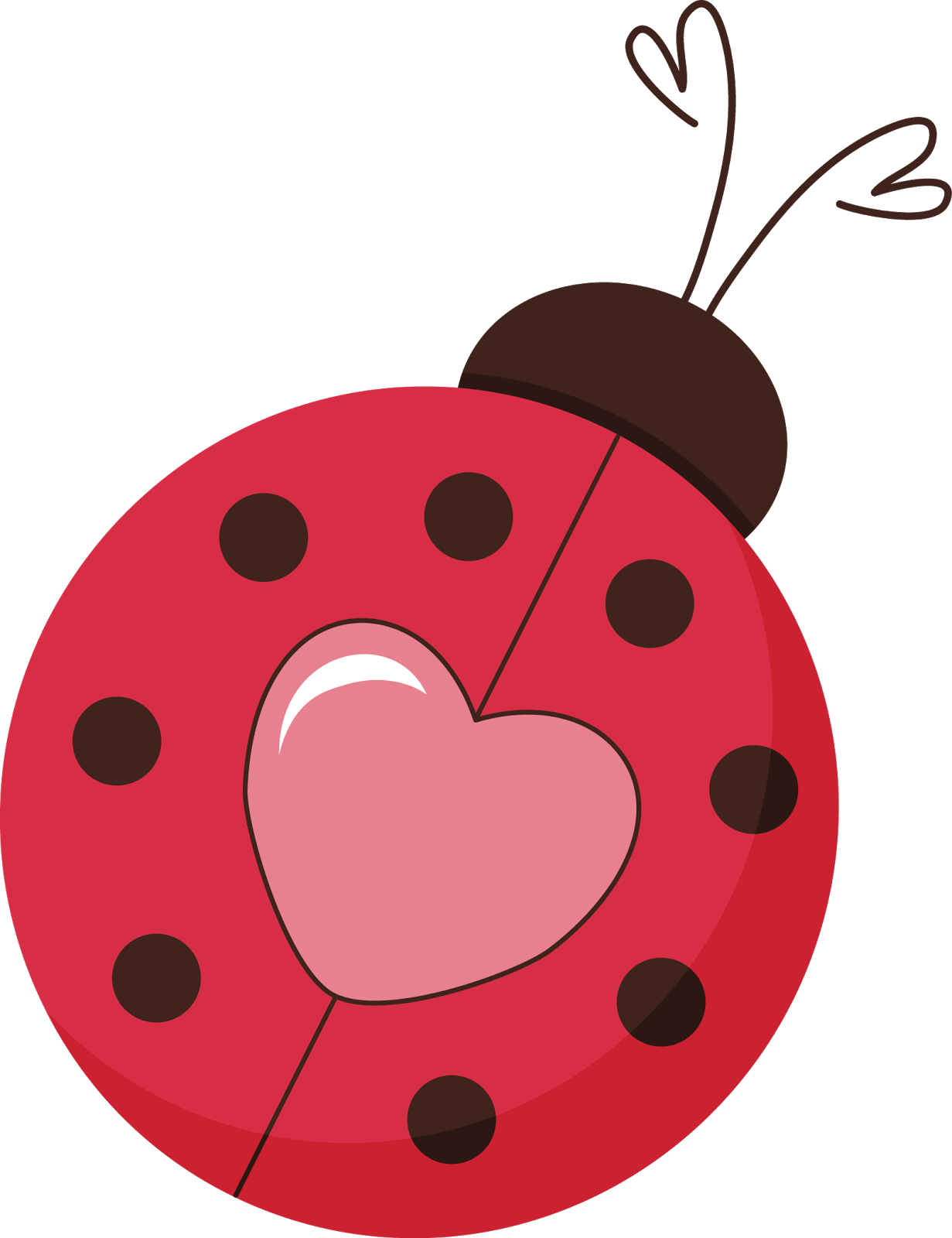 Transparent ladybug heart. Pin by peggie barker