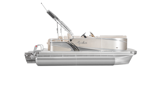 Transparent lake boat. Ls avalon pontoon boats