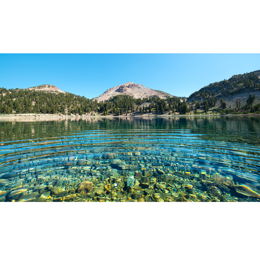 Lake transparent clear water