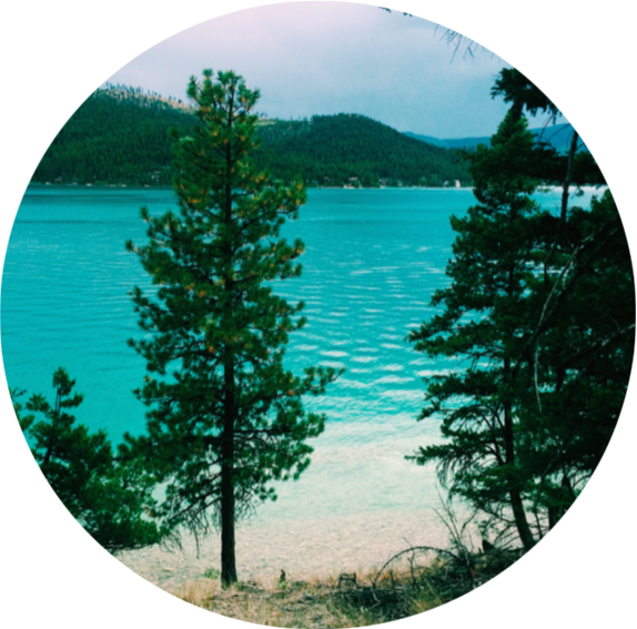 Transparent lake montana waters. Turquoise of ashley destinations