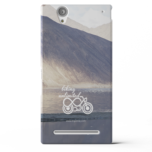 Transparent lake ultra. Mobile case for sony