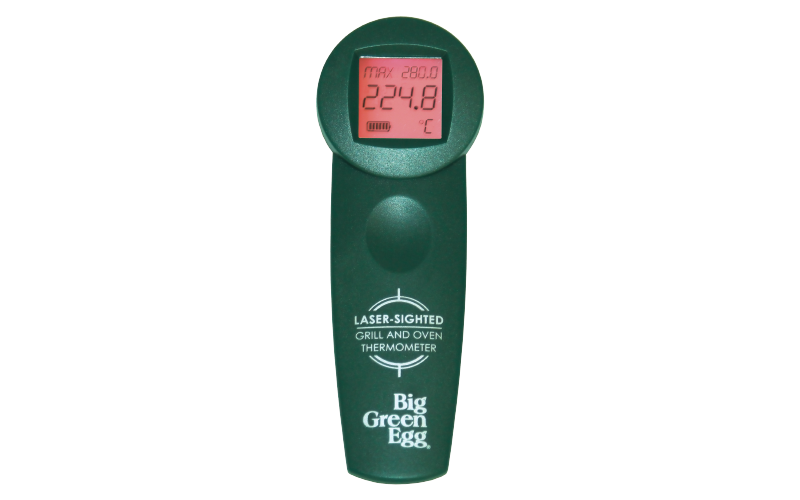 Transparent thermometer green. Big egg infrared cooking
