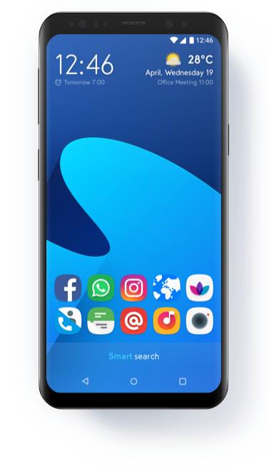Transparent launcher android. Home smart page