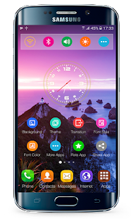 Transparent launcher. Theme for g s