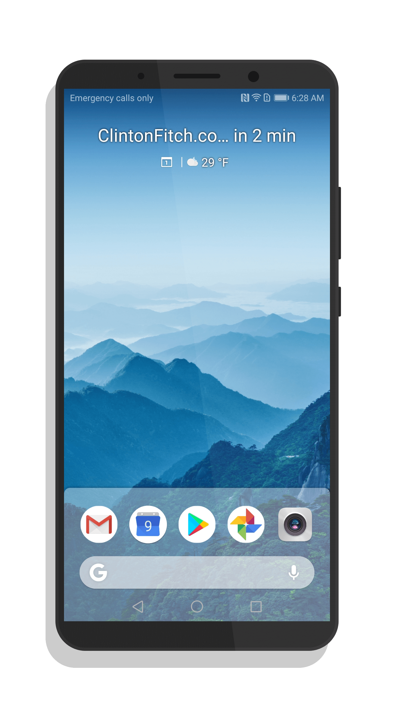 Transparent launcher screenshot. Download the android p