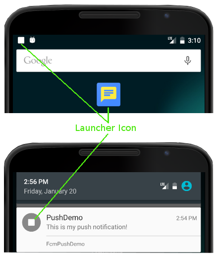 Transparent launcher android. Notification icons accengage