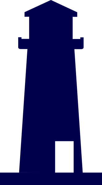 Transparent lighthouse clipart blue. Jpg free library