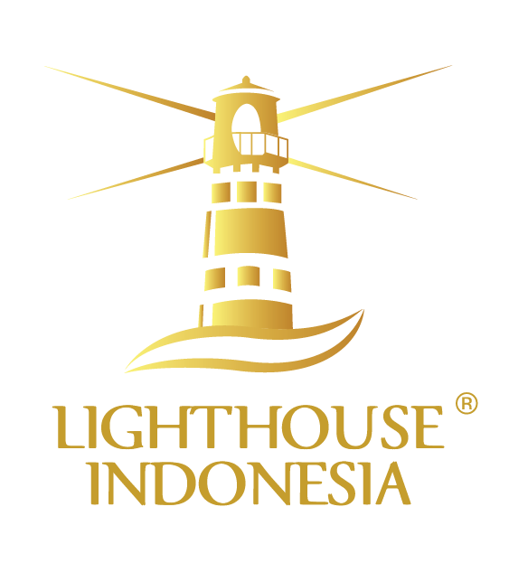 Lighthouse transparent gold. On jobs