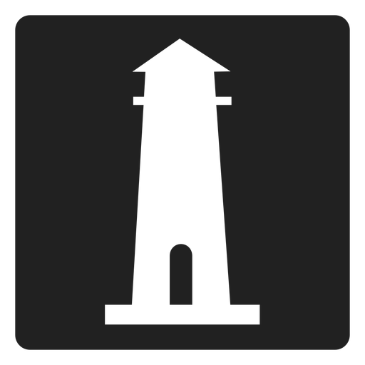 Lighthouse transparent svg. Simple square icon png