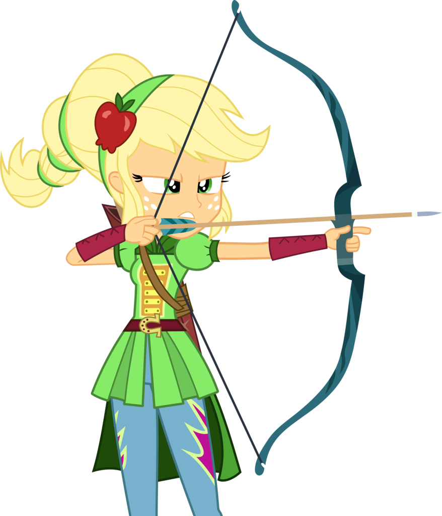 Transparent link bow arrow. Applejack artist frownfactory