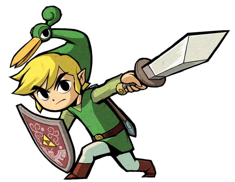 Transparent link cartoon. Index of images zelda