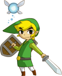 Transparent link cartoon. The legend of zelda