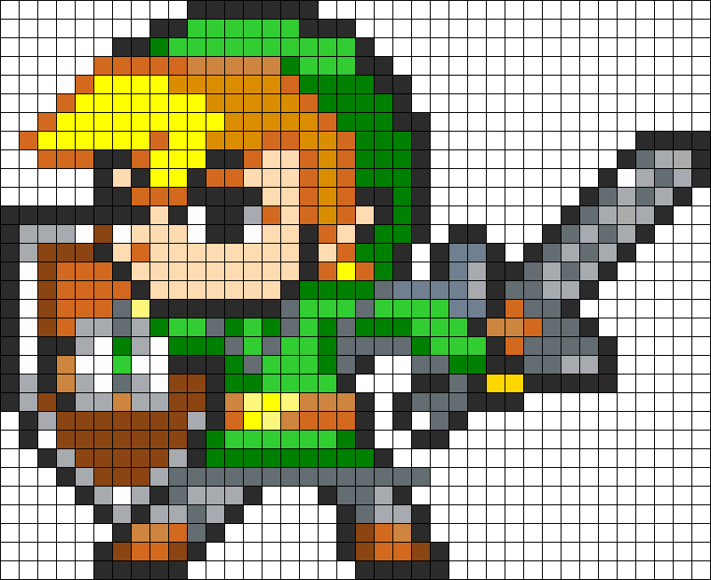 Transparent link perler bead