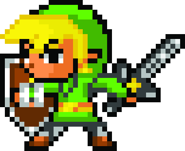 Transparent link pixel art. Toon by omeganigma on