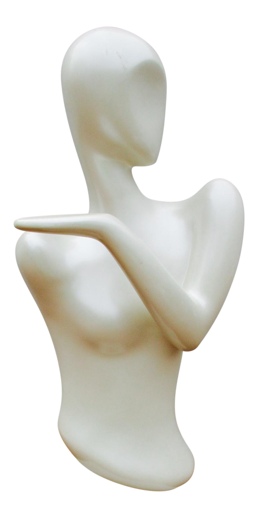 Transparent mannequin lucite. Modernist art deco display