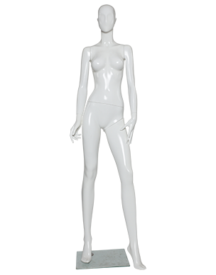 Gloss female . Transparent mannequin clip freeuse download