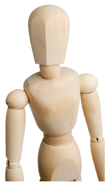 Transparent mannequins art wooden. Mannequin bendy and the