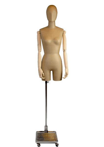 Transparent mannequins art wooden. Manex france bustes accessoires