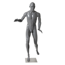 Transparent mannequins inflatable. Display male suppliers and