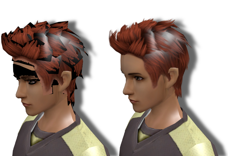 transparent mapping hair