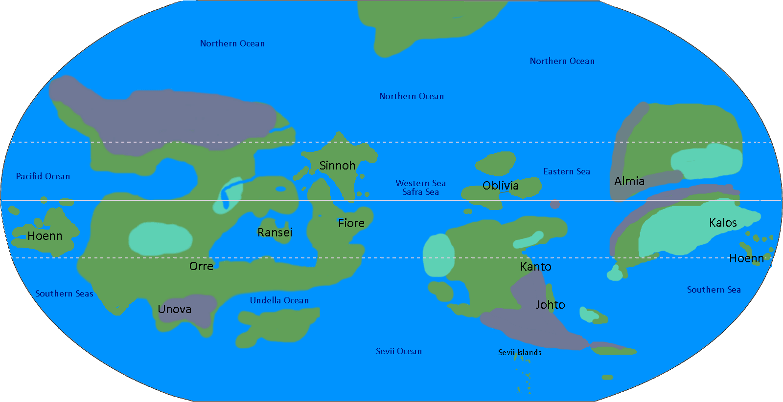 Transparent maps accurate. The pokemon world map