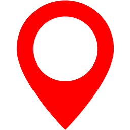 Transparent maps pointer. Red map marker icon