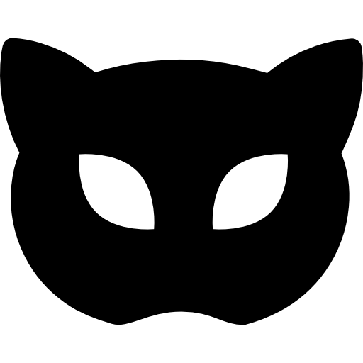 transparent masks cat
