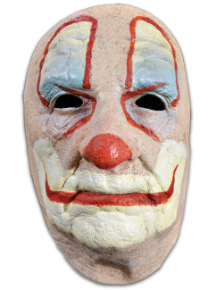Transparent masks clown. Old mask products scary