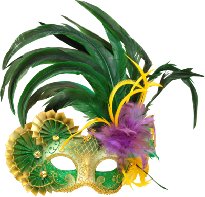 Transparent masks feather. Carnival mask png images