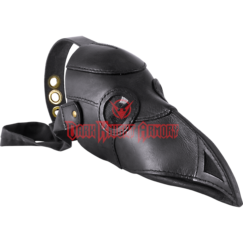 Transparent masks plague doctor. Leather mask mci from
