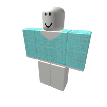 Transparent mesh net. Turquoise shirt roblox