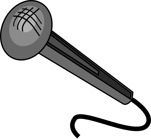 Transparent mic animasi. Microphone clip art at