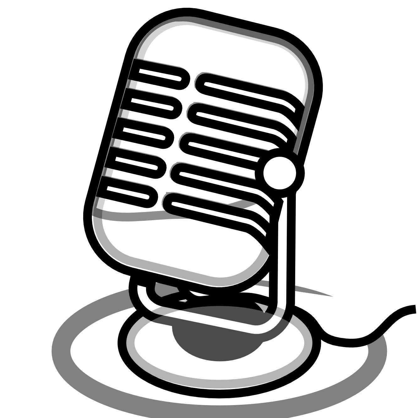 Transparent mic coloring page. Collection of microphone