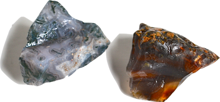 transparent minerals semi